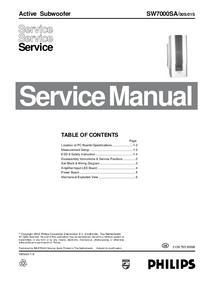 Manual de servicio Philips SW7000SA/01S