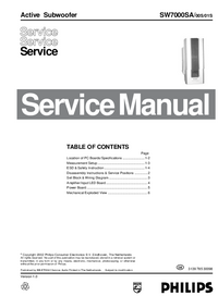 Manual de serviço Philips SW7000SA/01S