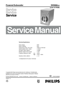 Service Manual Philips SW988/00S