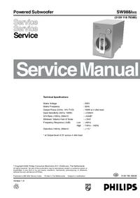Manuale di servizio Philips SW988/00S