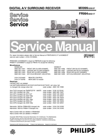 Manual de servicio Philips FR994/17