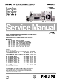 Service Manual Philips MX980/22S