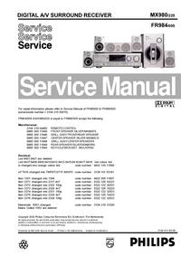 Manual de serviço Philips FR984