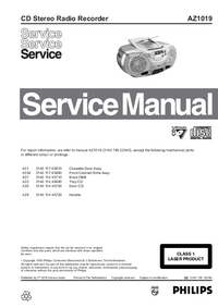 Servicehandboek Philips AZ1019