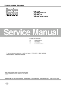 Service Manual Philips VR330