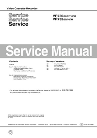 Service Manual Philips VR732