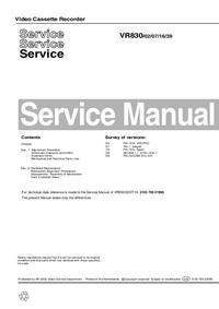 Servicehandboek Philips VR830