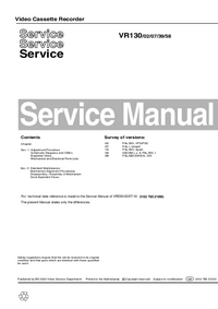 Manual de servicio Philips VR130