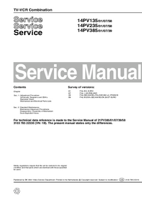 Service Manual Supplement Philips 14PV235 /01/07/58