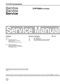 Service Manual Philips 21PV385