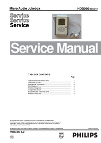 Manual de servicio Philips HDD060