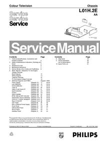 manuel de réparation Philips L01H.2E AA