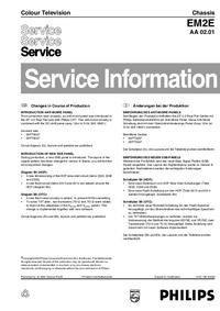 Suplemento Manual de servicio Philips EM2E AA 02.01