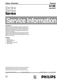 Supplément manuel de réparation Philips A10E AA 02.01