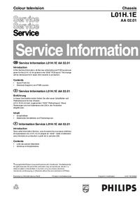 Dodatek Instrukcja Serwisowa Philips L01H.1E AA 02.01