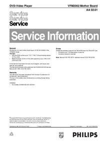 Erweiterung zur Serviceanleitung Philips VFM2002 Mother Board AA 02.01