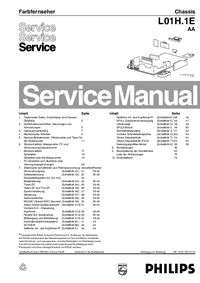 Manual de servicio Philips L01H.1E AA