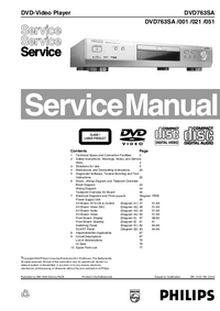 Manual de servicio Philips DVD763SA