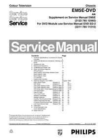 Servicehandboek Philips EM5E-DVD AA