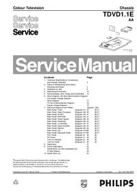 Manual de serviço Philips TDVD1.1E AA
