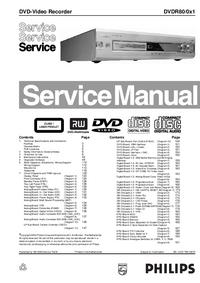 Serviceanleitung Philips DVDR80