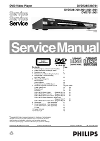 Service Manual Philips DVD731