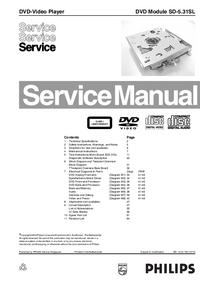 manuel de réparation Philips SD-5.31SL