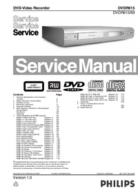Manual de servicio Philips DVDR615/69