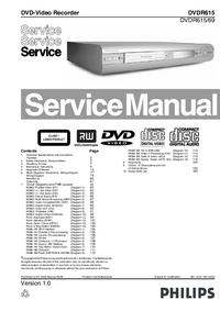 manuel de réparation Philips DVDR615/69