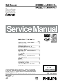 Manual de servicio Philips MX3900D/ 37