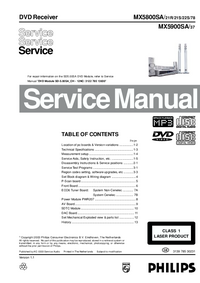 Service Manual Philips MX5800SA/ 21R