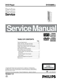Service Manual Philips DVD590M/ 69