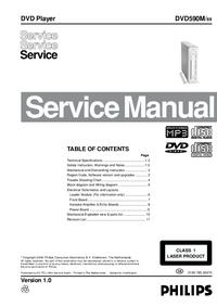Manual de servicio Philips DVD590M/ 69