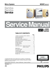 Manual de servicio Philips MCM7/ 22