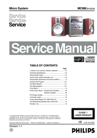 Service Manual Philips MCM8/ 22