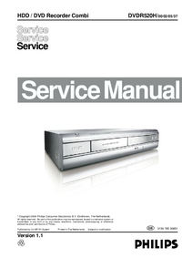 Service Manual Philips DVDR520H/ 37