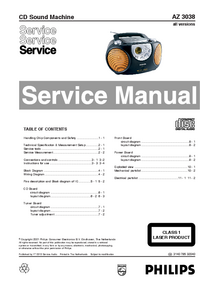 Manual de servicio Philips AZ 3038