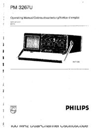Manuel de l'utilisateur Philips PM 3267U