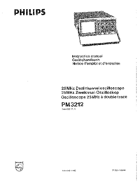 User Manual Philips PM3212