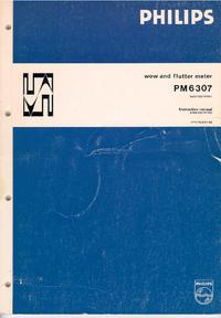 Service-en gebruikershandleiding Philips PM 6307