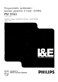 User Manual Philips PM 5193