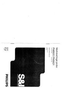 Service-en gebruikershandleiding Philips PM8821