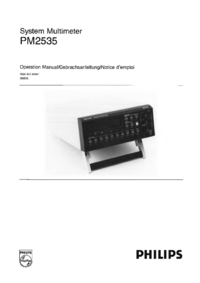 User Manual Philips PM2535