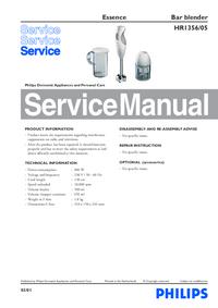 Manual de serviço Philips Essence HR1356/05