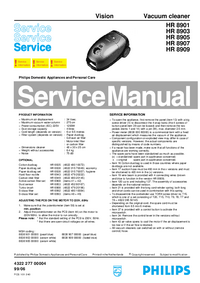 Manual de servicio Philips Vision HR 8903