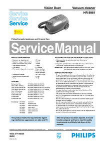 Service Manual Philips Vision Duet HR 8981