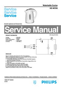 Manual de serviço Philips Cucina HD 4673/5