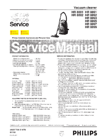 Service Manual Philips HR 8899