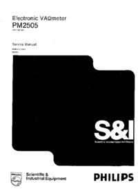 Manuale di servizio Philips PM 2505