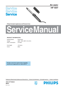 Service Manual Philips HP 4607